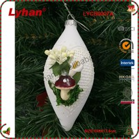 white glass irregular ball with spring image for Christmas