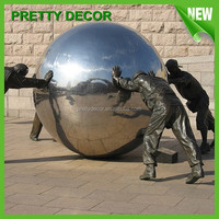 Garden Ornament Metal Sphere Sculpture