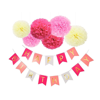 Party Decorations And Paper Birthday Decorations Happy Birthday Pom Poms Baby Shower Party