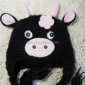2014 Little Baby Black Pig Crochet Hat Animal Crochet Hat - Buy Sock ...