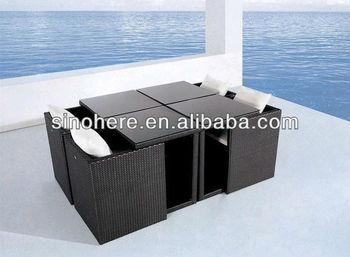 Tavolo Cubo Da Giardino.Cubo Di Rattan Da Pranzo Tavolo E Sedie Per Il Giardino Patio E