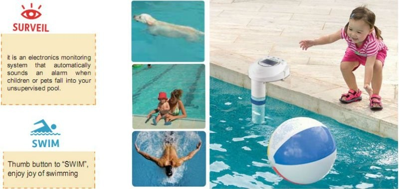 Private Soalr Swimming Pool Alarm For Pool Safety And