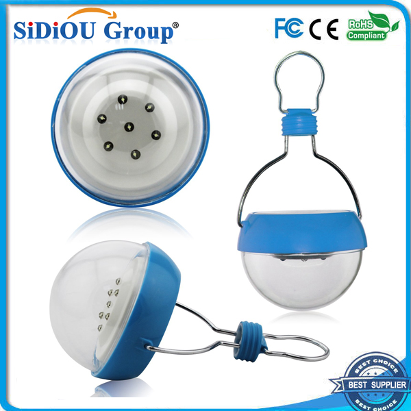 Waterproof LED Solar Lamp 7 Led Bulds 3W 2V/100mA Portable Solar Powered Outdoor Camping Lantern