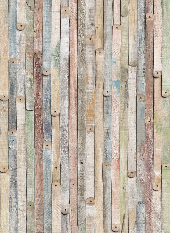 Komar 4-910 Vintage Wood 4-Panel Wall Mural