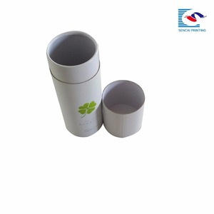 Sencai Custom white cardboard round paper tube box cylinder box tea packaging box