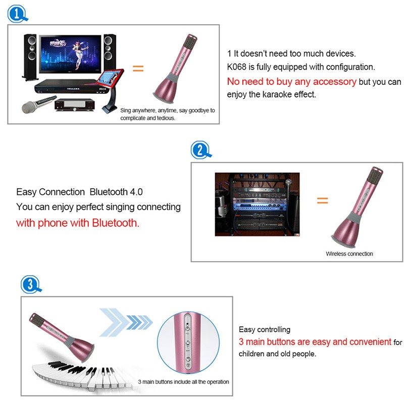 Portable KTV Player--K068 with best price for your personal ktv player singing record k068