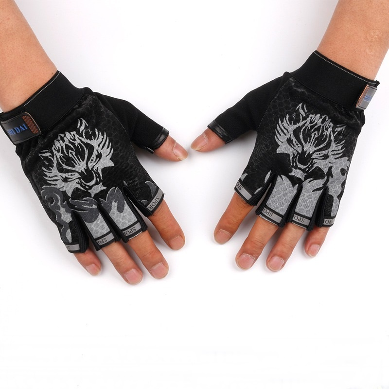 Semi Finger Bicycle Gloves For Kids Camping Children
