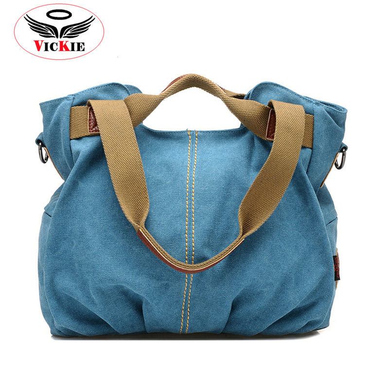 High Quality Women Canvas Handbags Shoulder Bags Brand Casual Large Messenger Bag Travel Bag  Vintage Lady Tote Bolsos Sac RL04