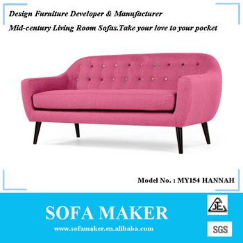 Classical Mid-century Fabric 3 Seat Sofa My154 - Buy Classic Sofa ...