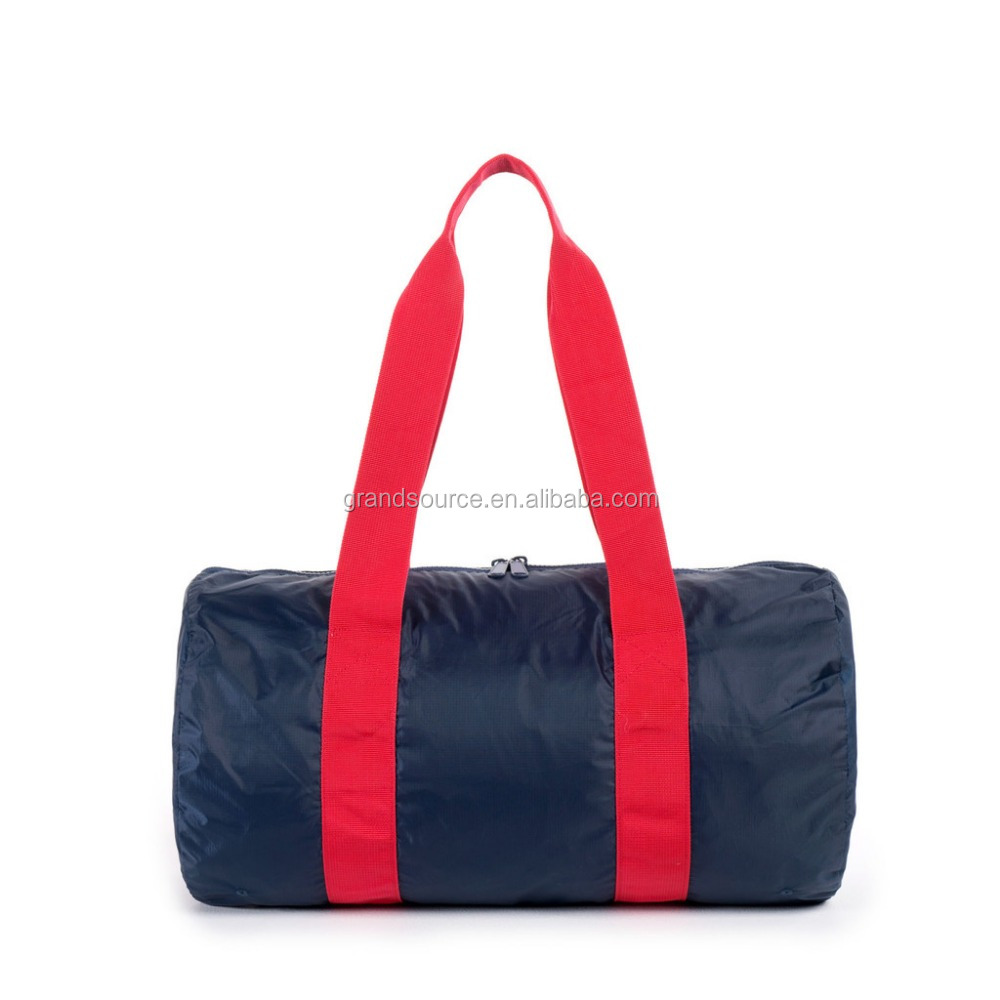 New fashtion foldable travel duffel Bag soft sports for gym bag promotion
