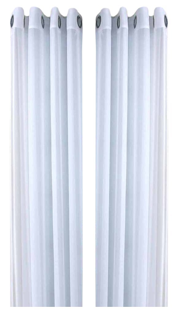 Ricardo Oyster Bay Sheer Voile Grommet Panel, 55 X 96, White