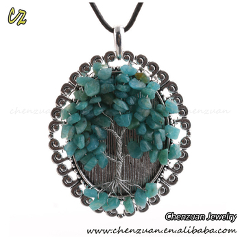 Fashion copper jewelry wire wrapped family tree pendant necklace fashion copper jewelry wire wrapped family tree pendant necklace style chakra stone pendants aloadofball Gallery