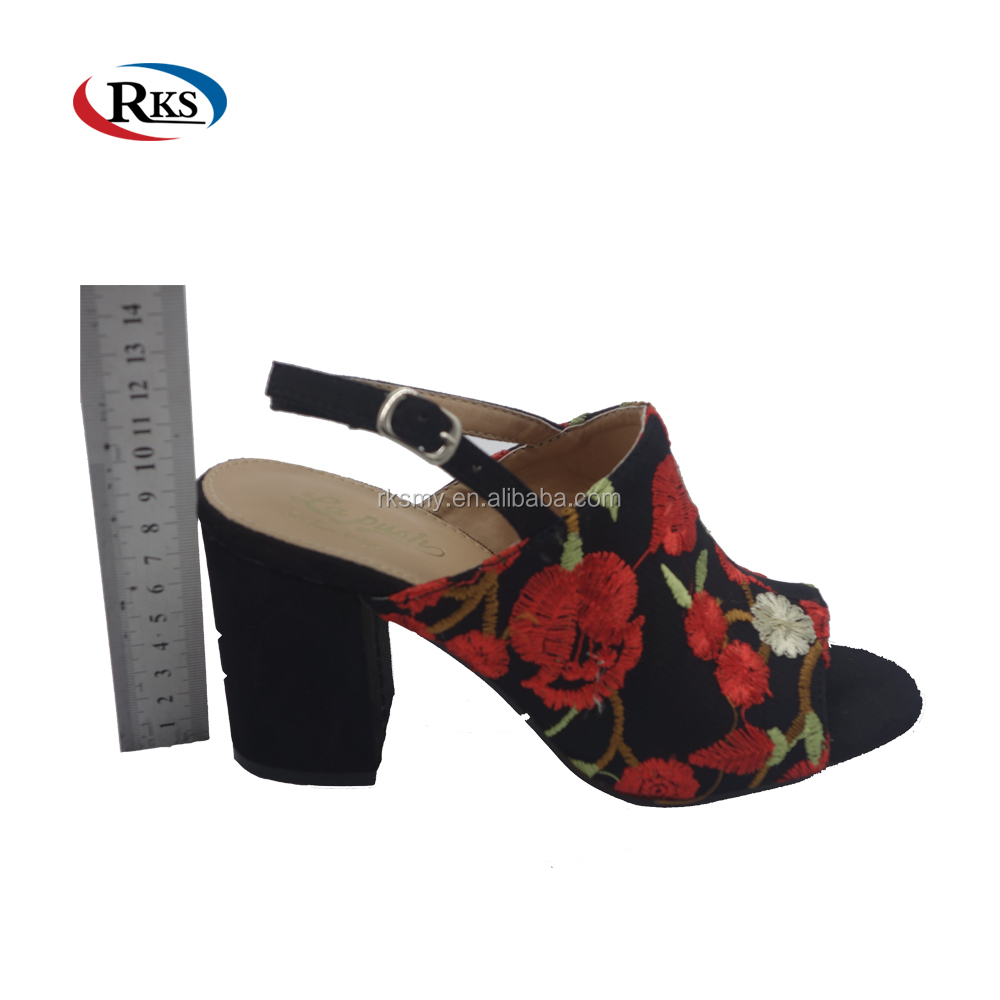 flower high heel fancy sandals