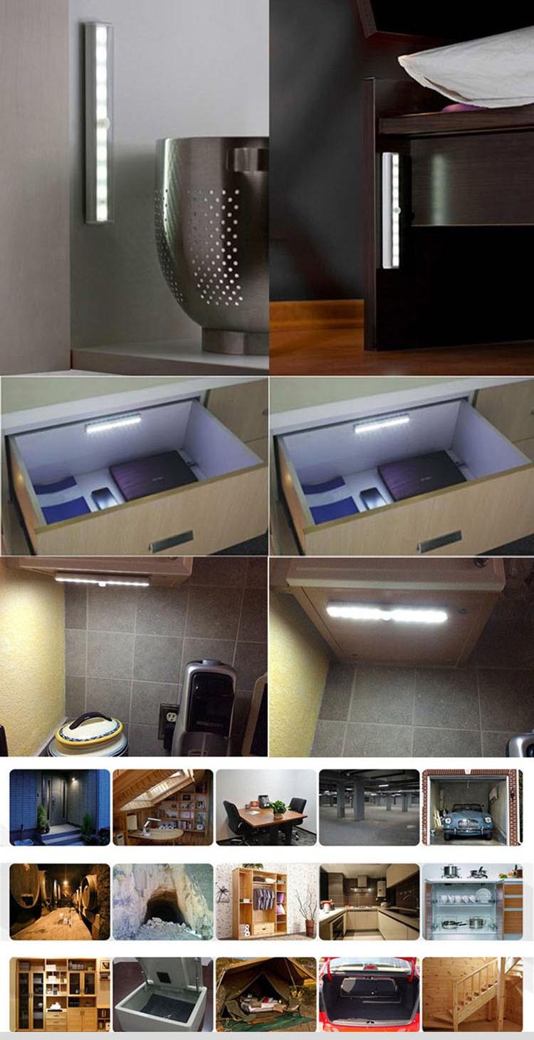 Wireless Under Magnetic Smd3528 Led Motion Sensing Under Cabinet ...