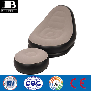inflatable recliner with footrest durable flocking inflatable lounge chair with ottoman inflatable deckchair sofa as seen  sc 1 st  Alibaba & Inflatable Recliner With Footrest Durable Flocking Inflatable ... islam-shia.org