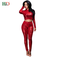 H & D Wholesale High Quality China Price Leaf Sequins African Design Women Dresses Sexy