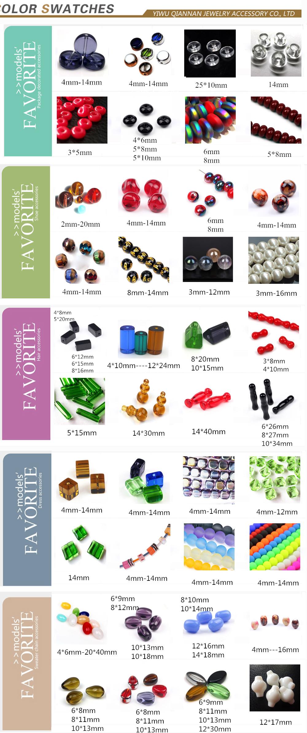 2019 Yiwu popular jewelry accessory wholesale handmade Japanese murano pressed round crystal beads 4-14 mm gray