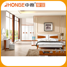 China Family Expenses Modern Models Double Cot Bed