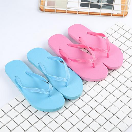 69e4eec4e0818 EVERTOP 2019 custom Chinese flip flop slipper made in China disposable beach  eva pe slipper women