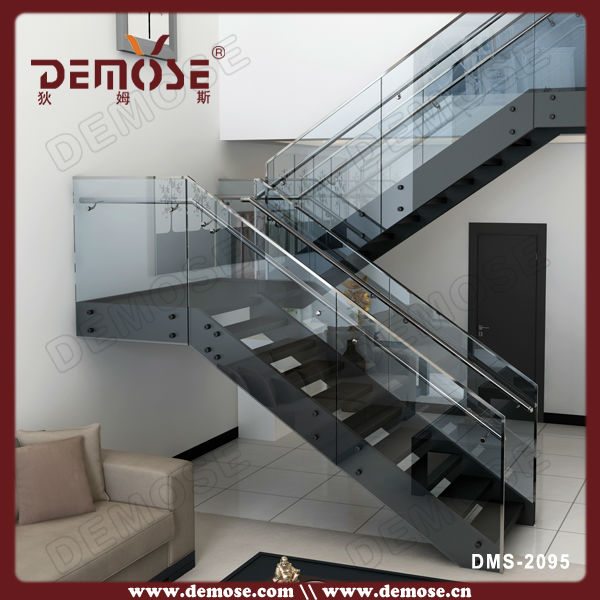 Indoor u shape glass railing staircase designsIndoor U Shape Glass Railing Staircase Designs   Buy Indoor  . Outdoor Metal Staircase Design. Home Design Ideas