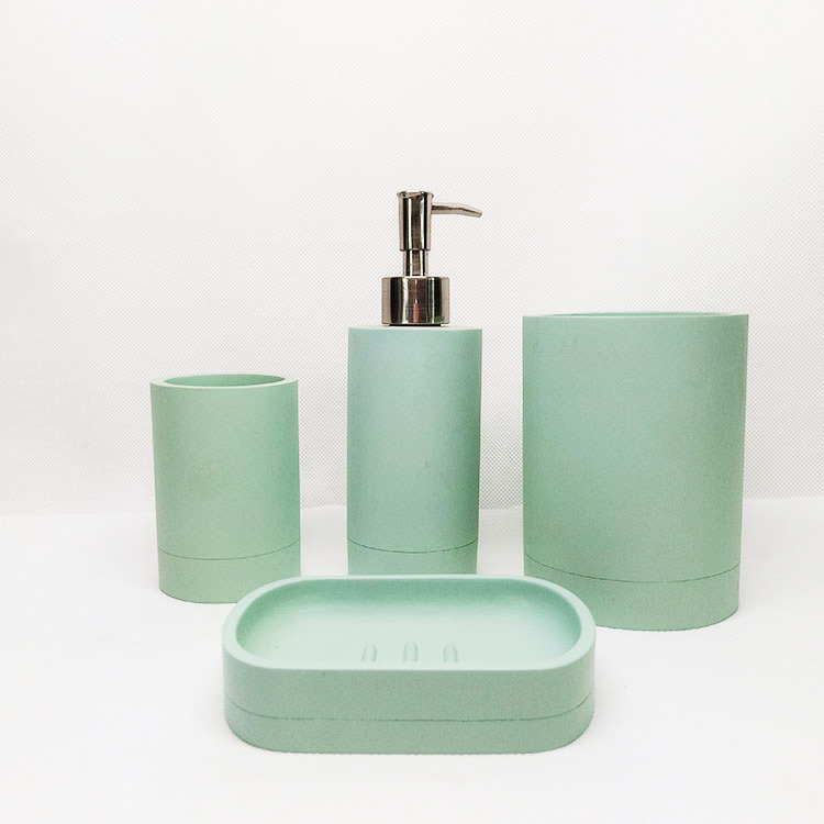 Personalizado Eco hotel/home polyresin concreto acessórios do banheiro