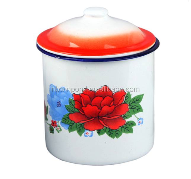 Best selling custom printed enamel mug for promotional gift