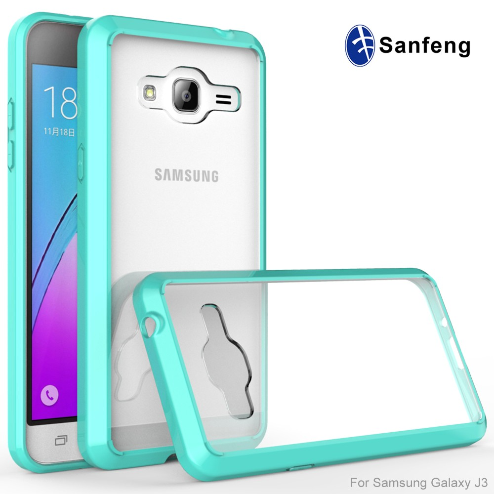 New Arrival Tpu And Acrylic Case For Samsung Galaxy Express Prime J3 2016 Transparent Back