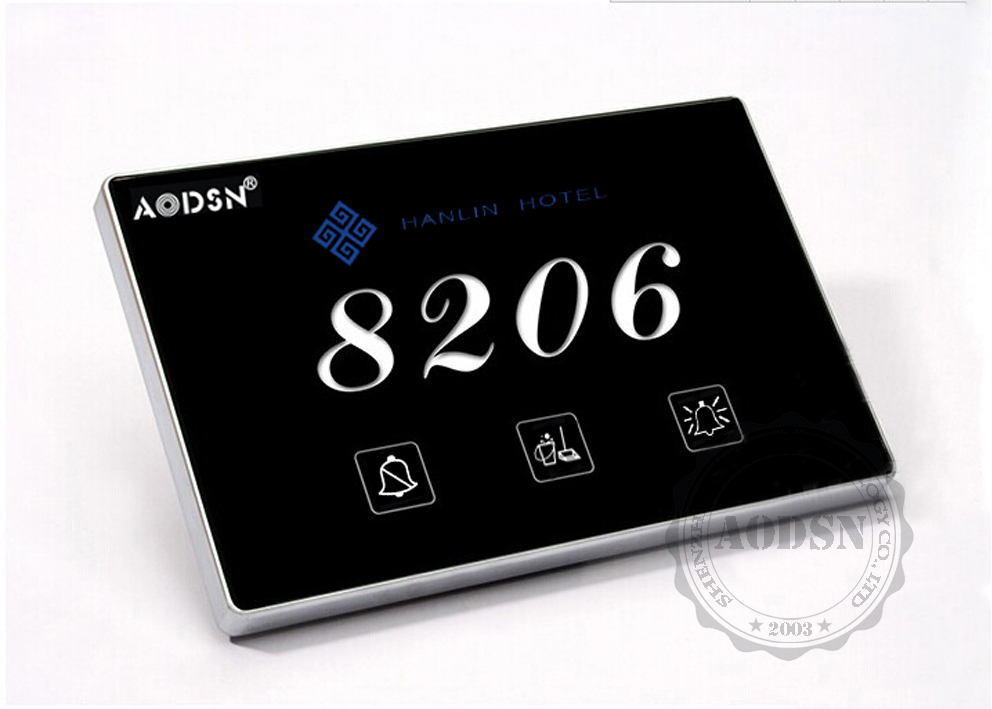 AODSN hotel logo door sign doorbell system touch screen doorbell