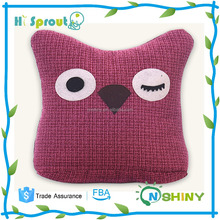 Dark Red and High Fashion Baby Owl Cushion
