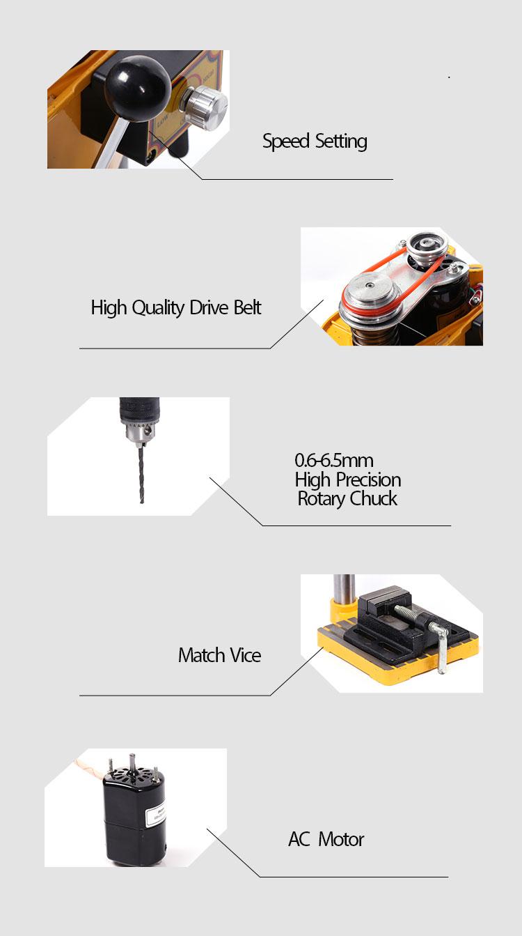 China 0-5000/0-6500/0-8500r/min metalen hand boormachine