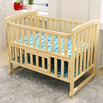 solid wood cradle single baby cot bed baby cribs