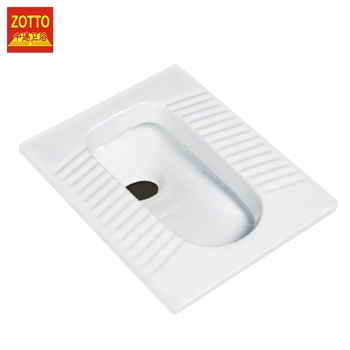 Hot sale sanitary ware antiskid wc pans water closet ceramic squatting pan squat toilet price