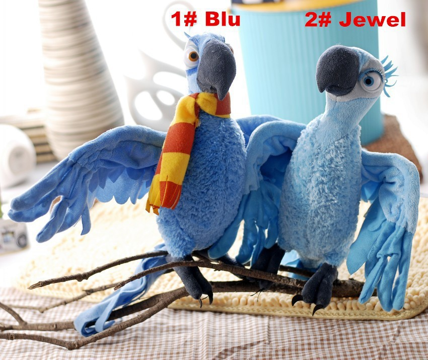 2Pcs lot High Quality plush toys Parrot Rio 2 28cm baby toys can be arbitrarily changed