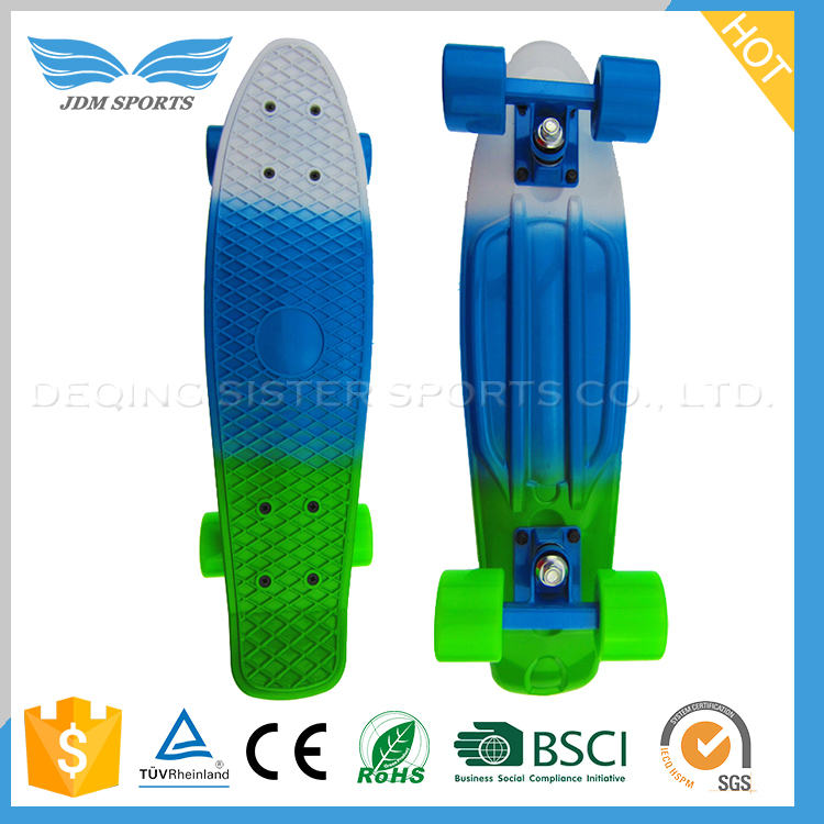 "Ce Approved 22"" Min Colour Complete Plastic Children Skateboard"