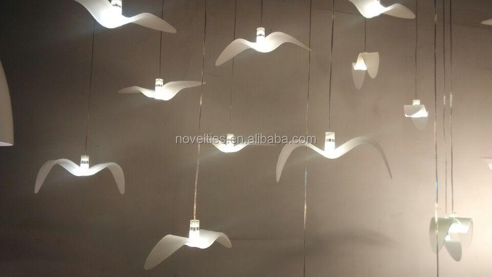 2015 New Lighting Modern Bird Pendant Light White Hanging Light ...