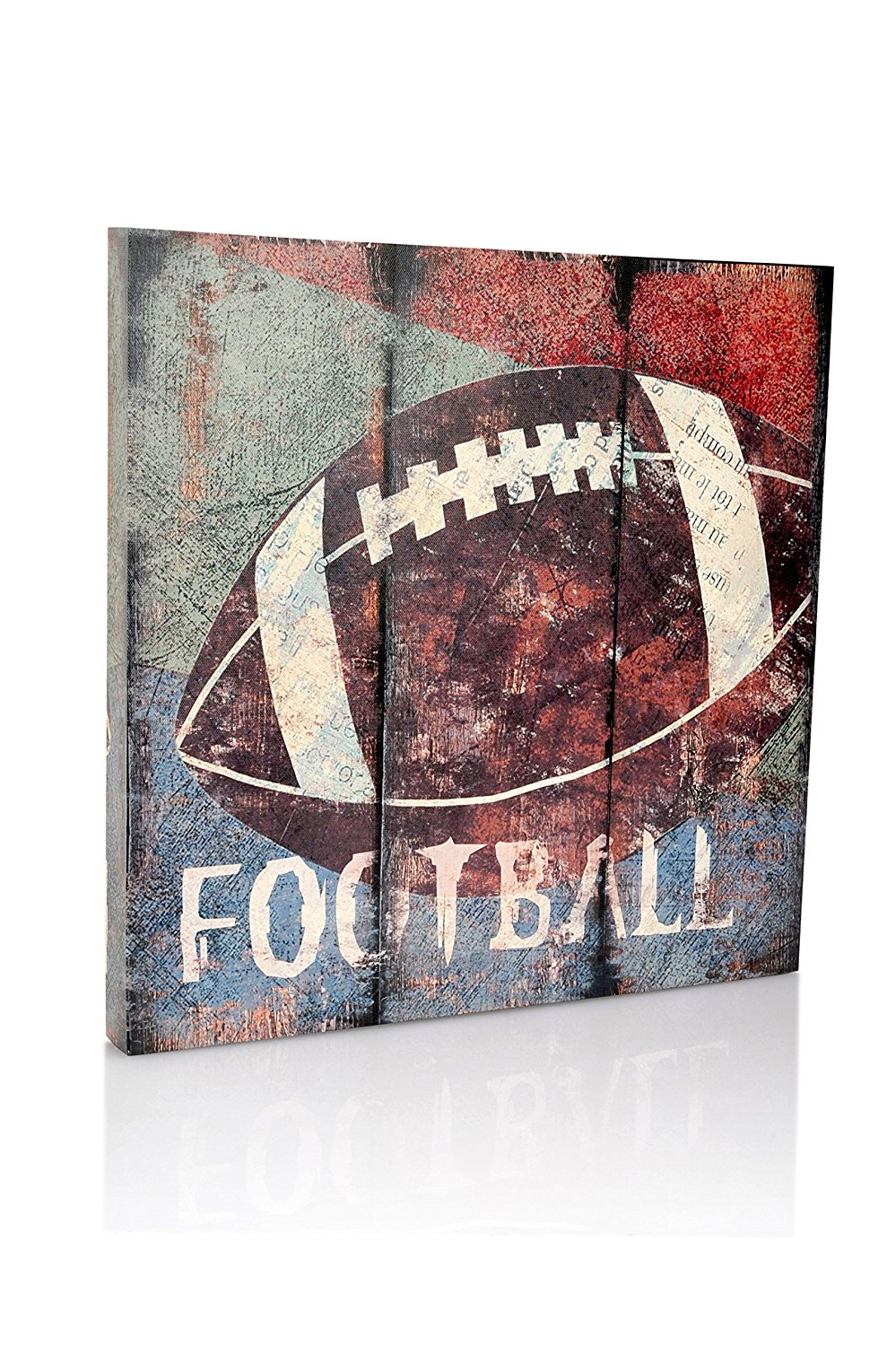 Get Quotations · Football Sports Canvas Wall Art | Boys Bedroom Décor | Kids  Room | Vintage Sports Art