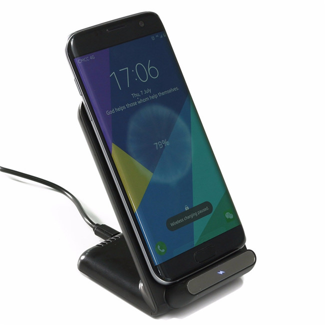 Portable Qi Wireless Charger Adapter Dock Bracket Power Fast Charging Stand  Holder Charger For Samsung S8/s8 Plus - Buy Wireless Fast Charger,Wireless