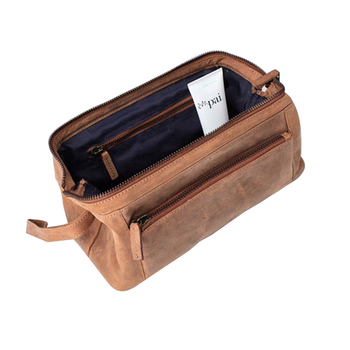 07ec728bbc5d 2018 New Coming Mens Leather Wash Bag Dopp Kit With Personalized Leather  Shaving Bag