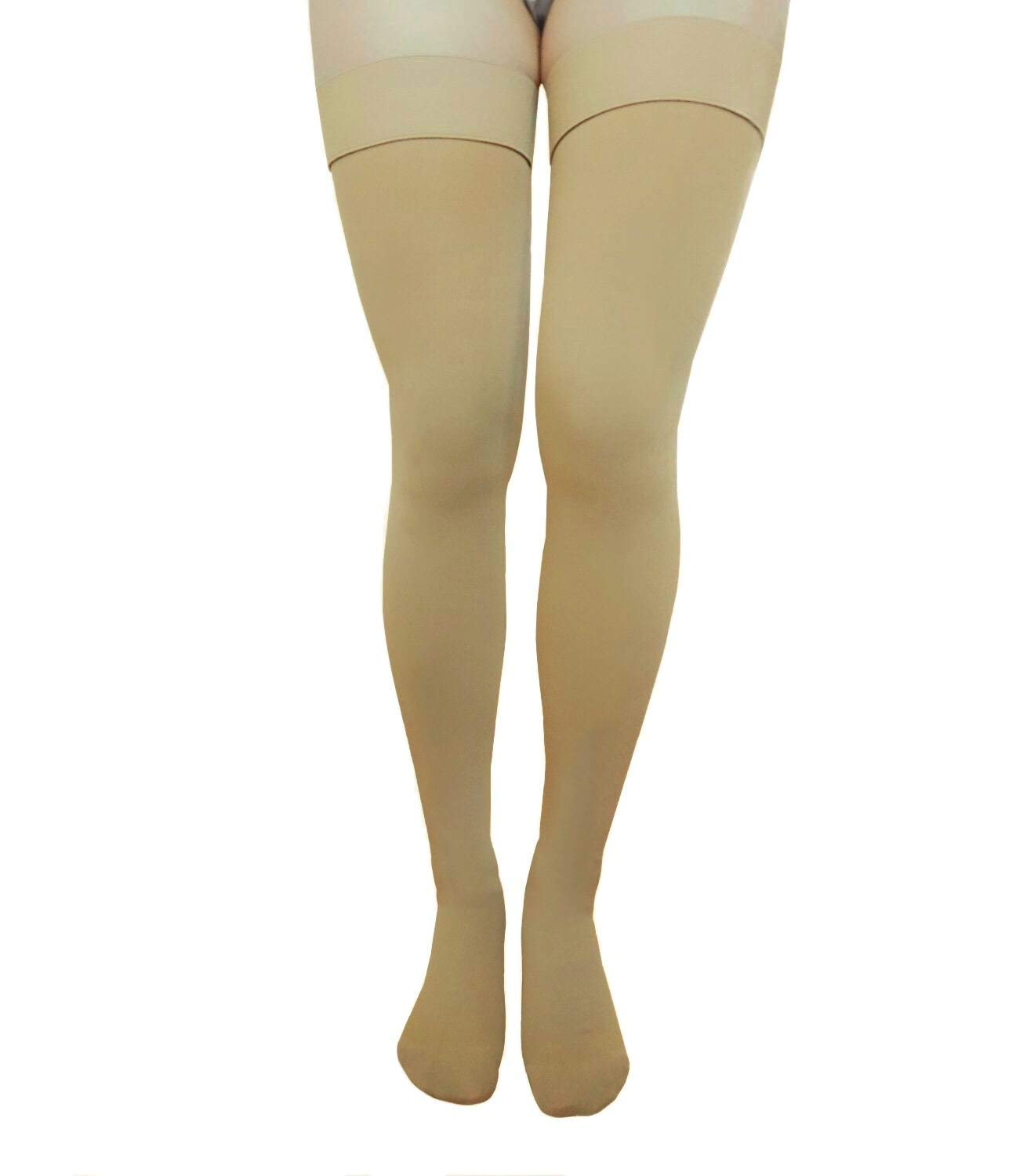 e11b9ceedd28f5 Get Quotations · Runee High Quality Thigh High Closed Toe Compression  Stockings Best For Swelling, Varicose Vein,
