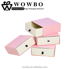 Pink color 2mm grey board drawer box for kids shoes