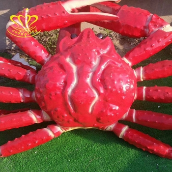 Hand-Painting Fiberglass Sculpture New Product Cartoon Crab For Garden Amusement Park Home Decor