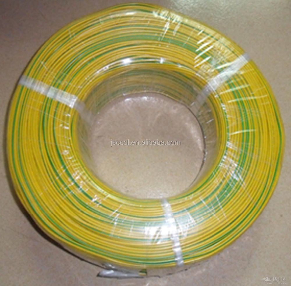 1.5mm Copper Conductor Stranded Earth Cable Green Yellow Grounding ...
