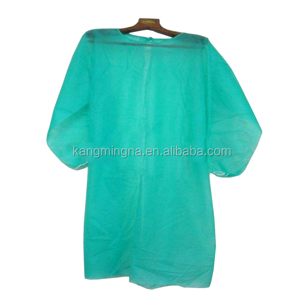 Long sleeve protective operation theatre surgical hospital green medical gown