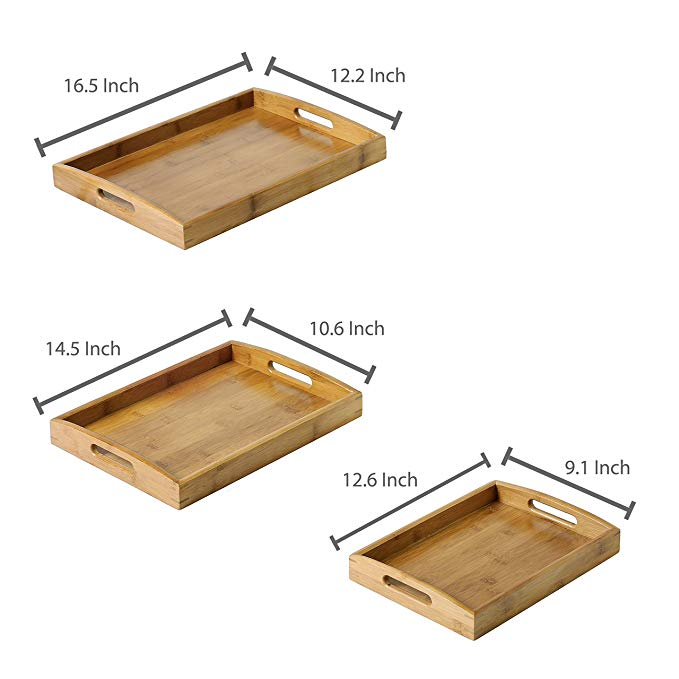 High Quality serving tray with handles