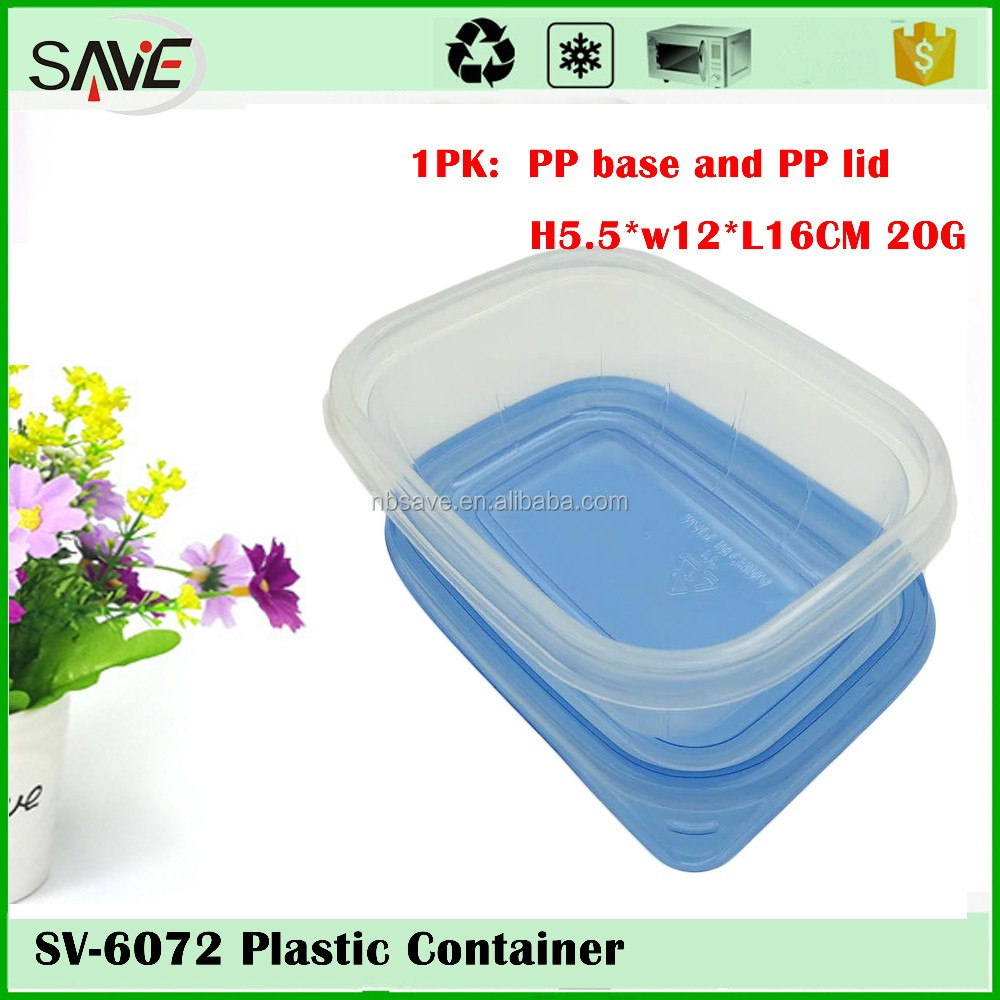China Supprier Wholesale 500ml Big Rectangle Plastic Lunch