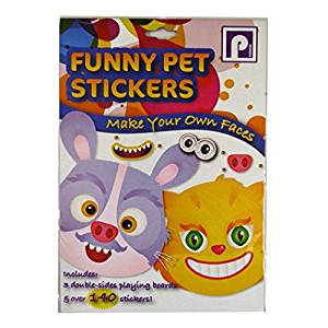 Funny Pet Stickers - Make Your Own Faces - 6 Play Cards and Stickers