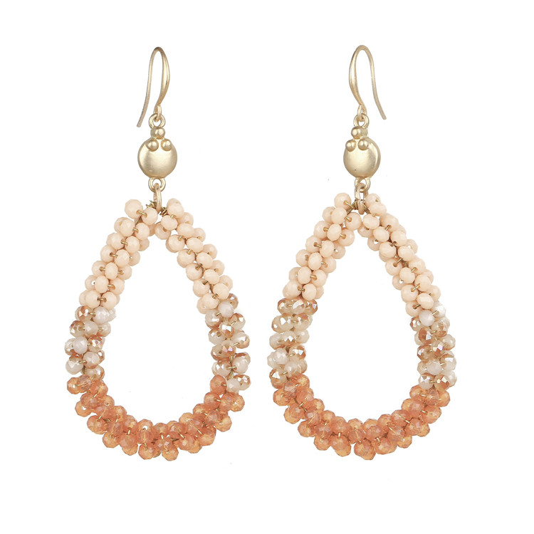 earring jewelry crystal wired drop double earring