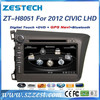 ZESTECH WinCE6.0+A8 CHIPSET 8 inch 2 din Car dvd player for honda civic gps multimedia system