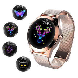 New Heart Rate Monitoring IP68 waterproof Rose Gold smartwatch edelstahl kw10 smart watch for women and ladies