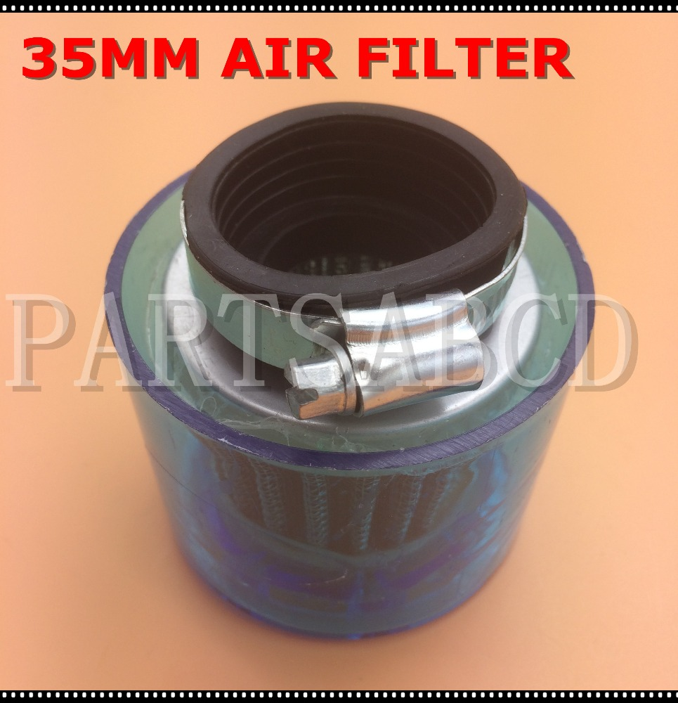 Air Filter Air Box 35mm Straight For Shielded Cone Chinese Scooter 4 Stroke 50cc Blue Atv Parts & Accessories